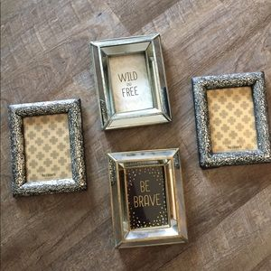 Set of 4 Chic Picture Frames Shiny Mirrored Pier 1